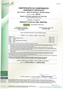 certificato bio agricert